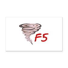 F5 TORNADO Rectangle Car Magnet