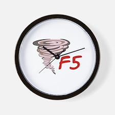 F5 TORNADO Wall Clock
