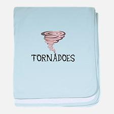 TORNADOES baby blanket