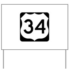 US Route 34 Yard Sign