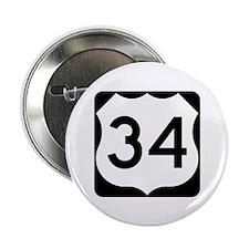 "US Route 34 2.25"" Button"