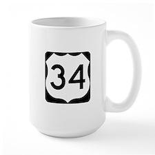US Route 34 Mug
