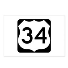 US Route 34 Postcards (Package of 8)