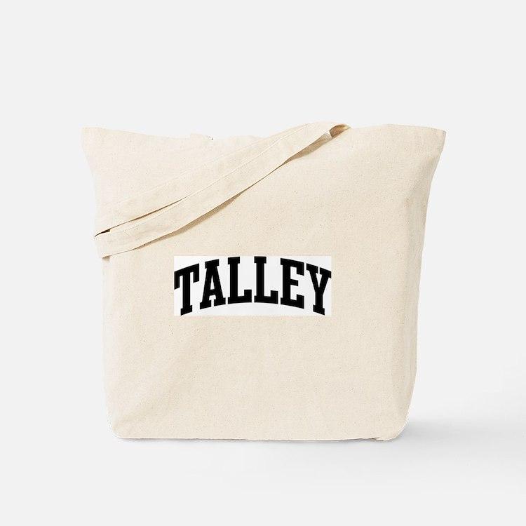TALLEY (curve-black) Tote Bag