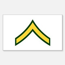 """Army E2 """"Class A's"""" Rectangle Decal"""