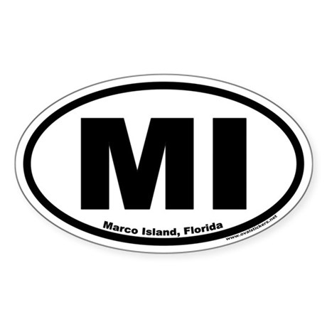 Marco Island, Florida MI Oval Sticker