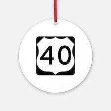 US Route 40 Ornament (Round)