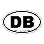 Daytona Beach, Florida DB Oval Sticker