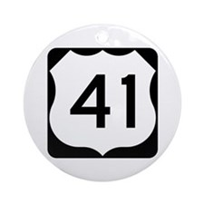 US Route 41 Ornament (Round)