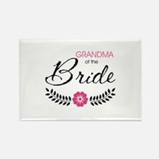 Cute Stylish Grandma of the Bride Rectangle Magnet
