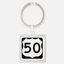 US Route 50 Square Keychain
