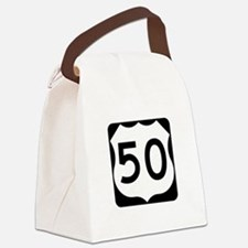 US Route 50 Canvas Lunch Bag