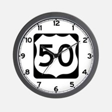 US Route 50 Wall Clock
