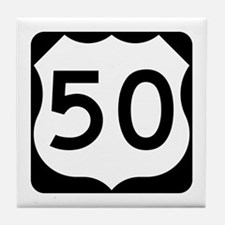 US Route 50 Tile Coaster