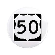 "US Route 50 3.5"" Button"