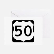 US Route 50 Greeting Cards (Pk of 10)