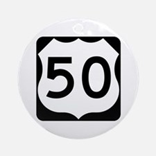 US Route 50 Ornament (Round)