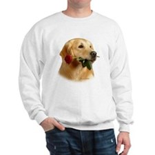 GOLDEN RETRIEVER MALE HEAD STUDY & ROSE Sweatshirt