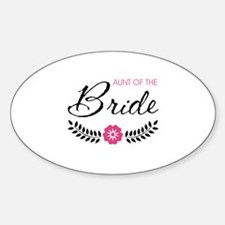 Cute Pink Aunt of the Bride Decal