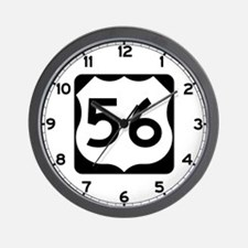 US Route 56 Wall Clock