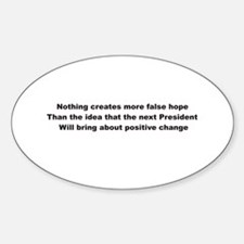 Election Sham False Hope Oval Decal