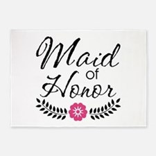Cute Pink Maid of Honor 5'x7'Area Rug