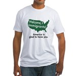 Welcome Immigrants Fitted T-Shirt