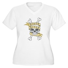 Cross Bones Biker Bitch T-Shirt
