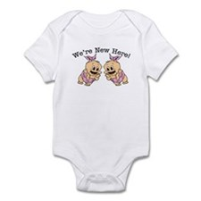 We're NEW Here! Cute TWINS Baby Infant Bodysuit