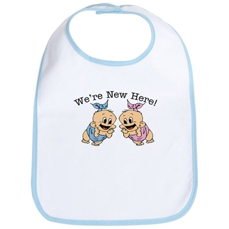 We're NEW Here! Cute TWINS Baby/Toddler Bibs