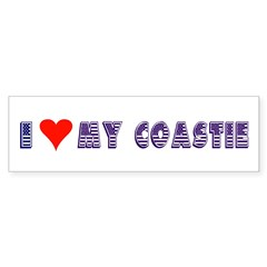 I Love My Coastie Bumper Bumper Sticker
