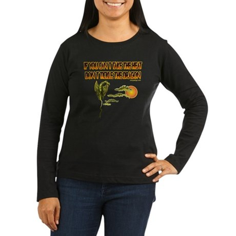 IF YOU CANT TAKE THE HEAT Women's Long Sleeve Dark