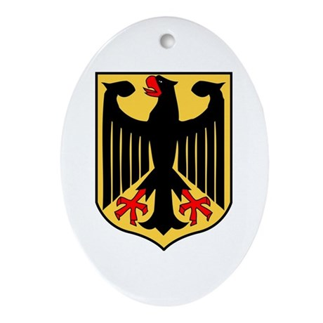 Germany Ferderal Eagle Flag Oval Ornament