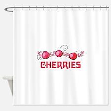 CHERRIES BORDER Shower Curtain