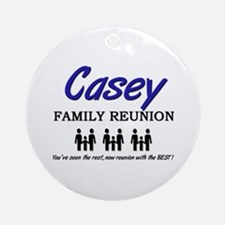 Casey Family Reunion Ornament (Round)