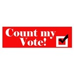 Count my vote (red) Bumper Sticker