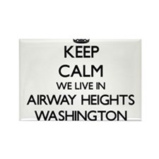 Keep calm we live in Airway Heights Washin Magnets