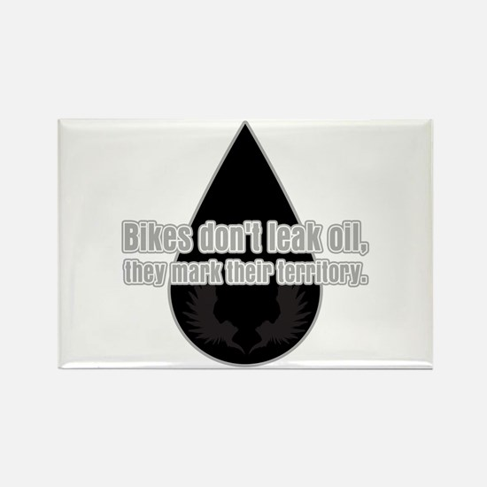 Bikes Don't Leak Oil Rectangle Magnet