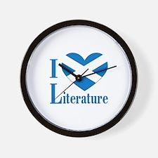 Scottish Literature Wall Clock