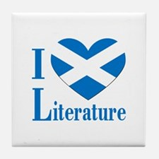 Scottish Literature Tile Coaster