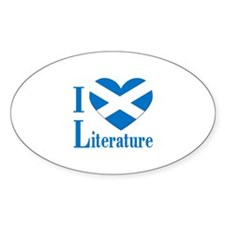 Scottish Literature Oval Decal