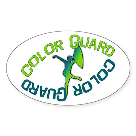 Color Guard Oval Sticker