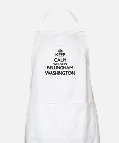 Keep calm we live in Bellingham Washington Apron