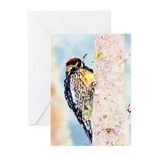 Yellow-Bellied Sapsucker Watercolor Greeting Cards