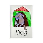 Kid Art Dog Rectangle Magnet