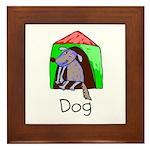 Kid Art Dog Framed Tile