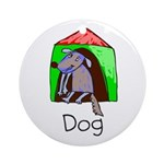 Kid Art Dog Ornament (Round)