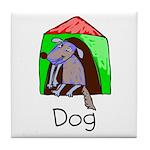 Kid Art Dog Tile Coaster