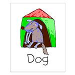 Kid Art Dog Small Poster