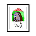 Kid Art Dog Framed Panel Print
